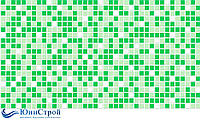 Листовая панель ПВХ Мозаика стандарт Зеленая