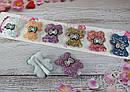 """Детские заколки для волос Мишки в блестках """"битое стекло"""" 12 шт/уп, фото 2"""