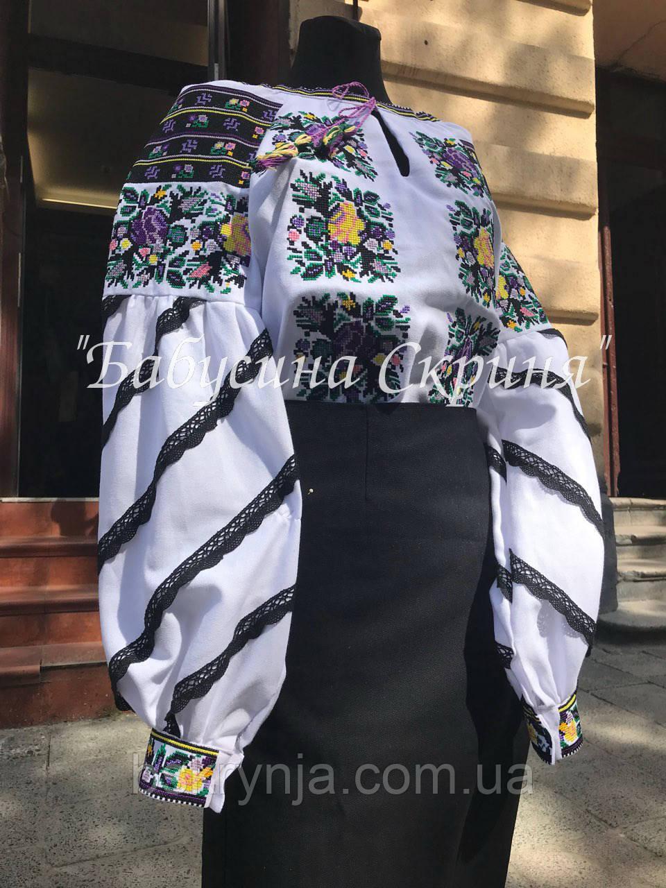 Сорочка Борщівська вишита жіноча.Вишиванка жіноча МВ-128