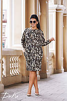 Леопардовое модное платье из новой коллекции