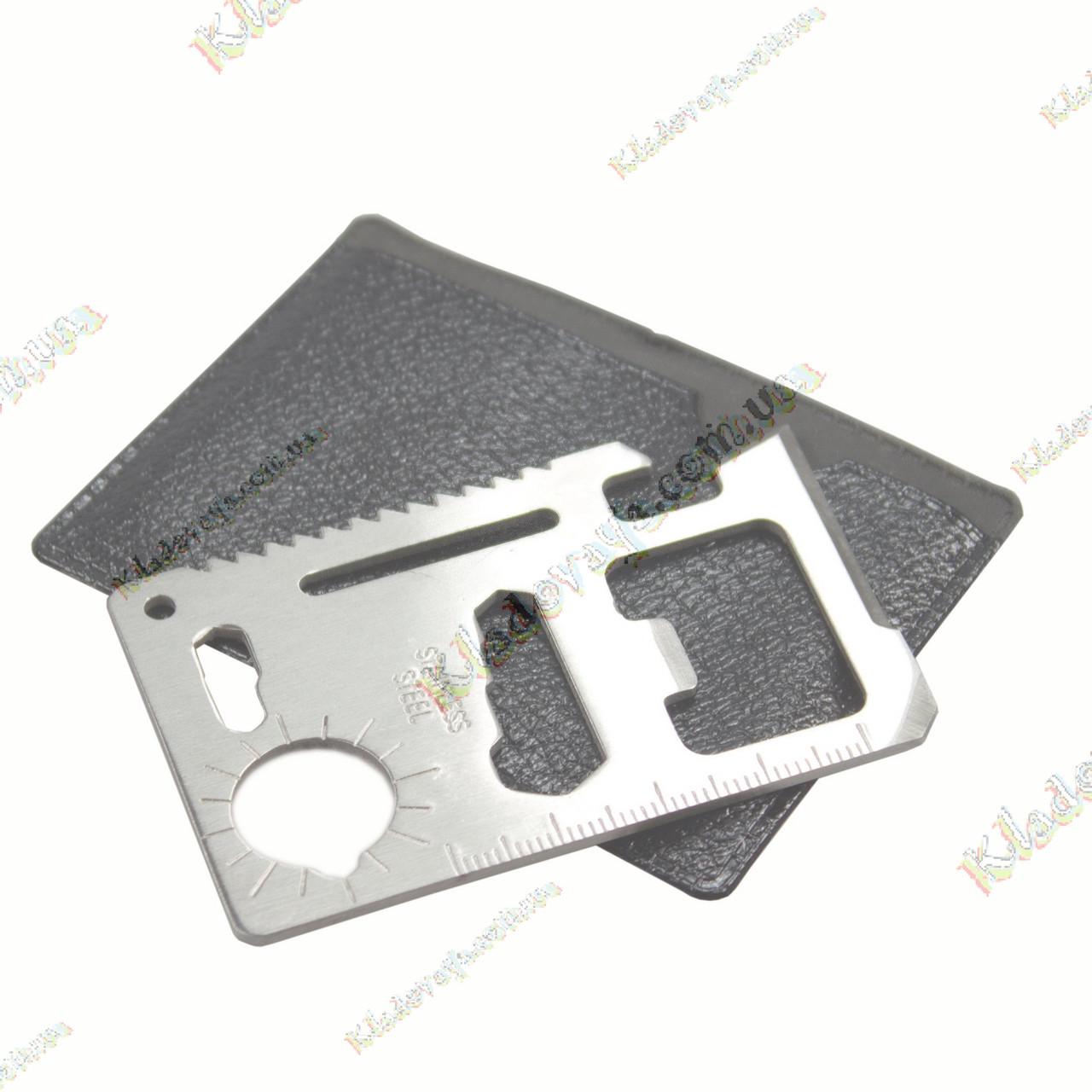 Мультитул-кредитка 11 в 1 -Туристический многофункциональный инструмент, фото 1