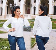 Блузка блуза женская белая софт батал размеры:50,52,54,56