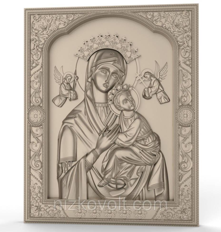 Страстная икона Божьей Матери - резьба на дереве