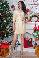 Нарядное молодежное платье с люрексовым напылением