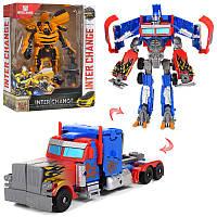 Трансформер W5533-13515 см, транспорт+робот, 3 вида, коробке17,5-28-7,5 см