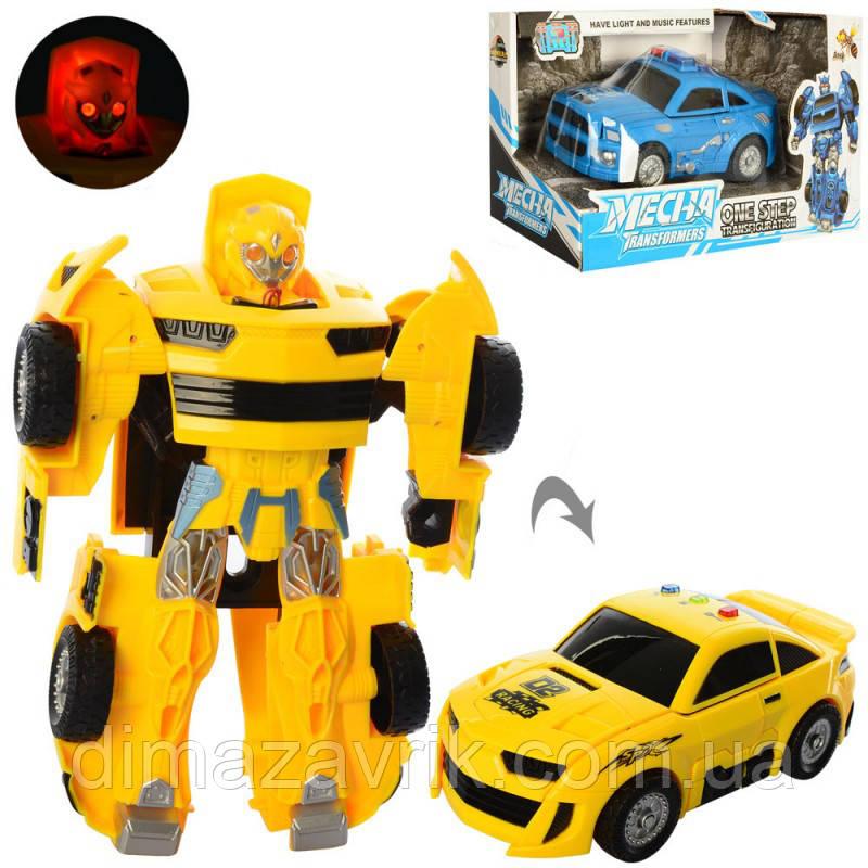 Трансформер D622-H043-44 17 см, робот+машинка