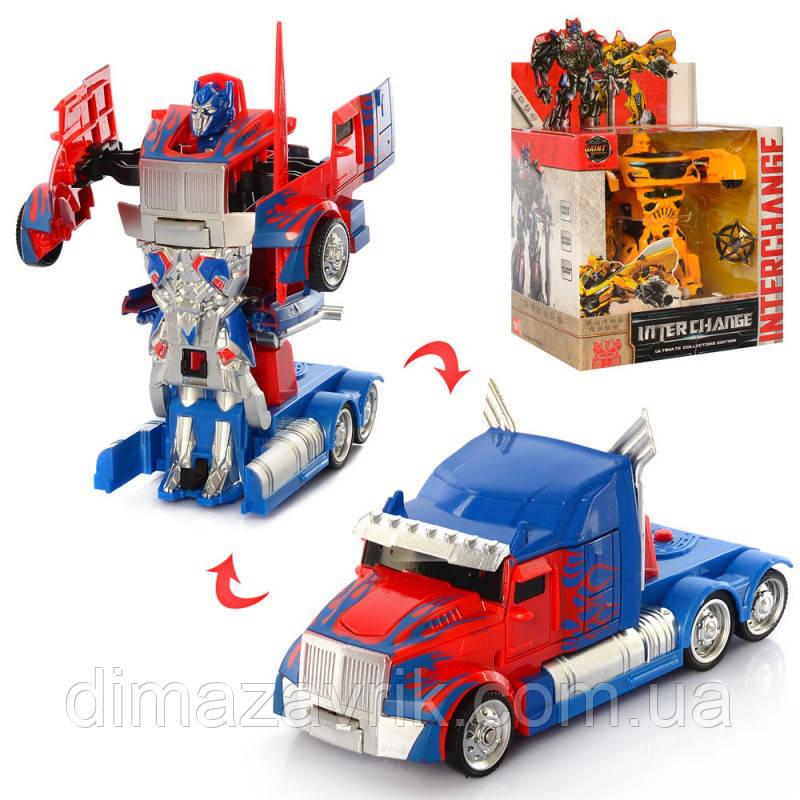 Трансформер W6699-54машинка+робот 13 см, 2 вида, коробке17-26-11,5 см