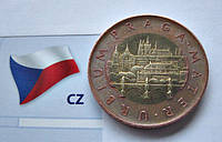 "50 крон ЧЕХИИ 2009 год ""Прага"" Биметалл, обиходная монета , фото 1"