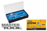 MasterTool Мини аэрограф с набором аксессуаров ПРОФ. MasterTool 81-8711