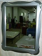 Багетное зеркало в раме из дерева 002