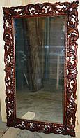 Зеркало в раме из дерева резное 003