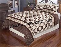 Полуторное постельное белье GOLD LOUIS VUITTON
