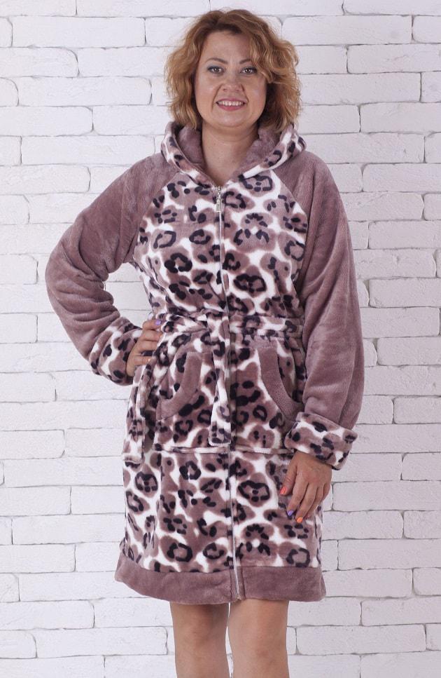 805299b02671 Махровый леопардовый халат на молнии, цена 775 грн., купить в ...