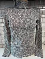 Гольф с ангоровым напылением женский (серый)