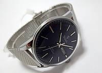 Часы стальные мужские Slava - Индиго - стальной браслет, синий циферблат