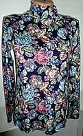 Женская водолазка в цветах хлопок, фото 1