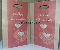 Крафтовий пакет для свадебного торту, каравая, сладостей.