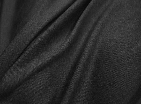Трикотаж джерси темно-серый меланж, фото 2
