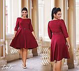 Платье женское рукав 3/4 юбка солнце батал размеры:50,52,54,56, фото 2