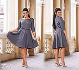 Платье женское рукав 3/4 юбка солнце батал размеры:50,52,54,56, фото 3