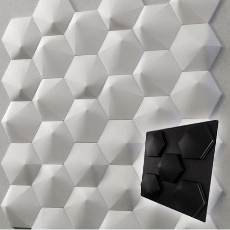 """Форма для 3D панелей """"Шестигранник № 3"""" 190*175 мм"""