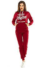 Женский спортивный костюм 429 бордо