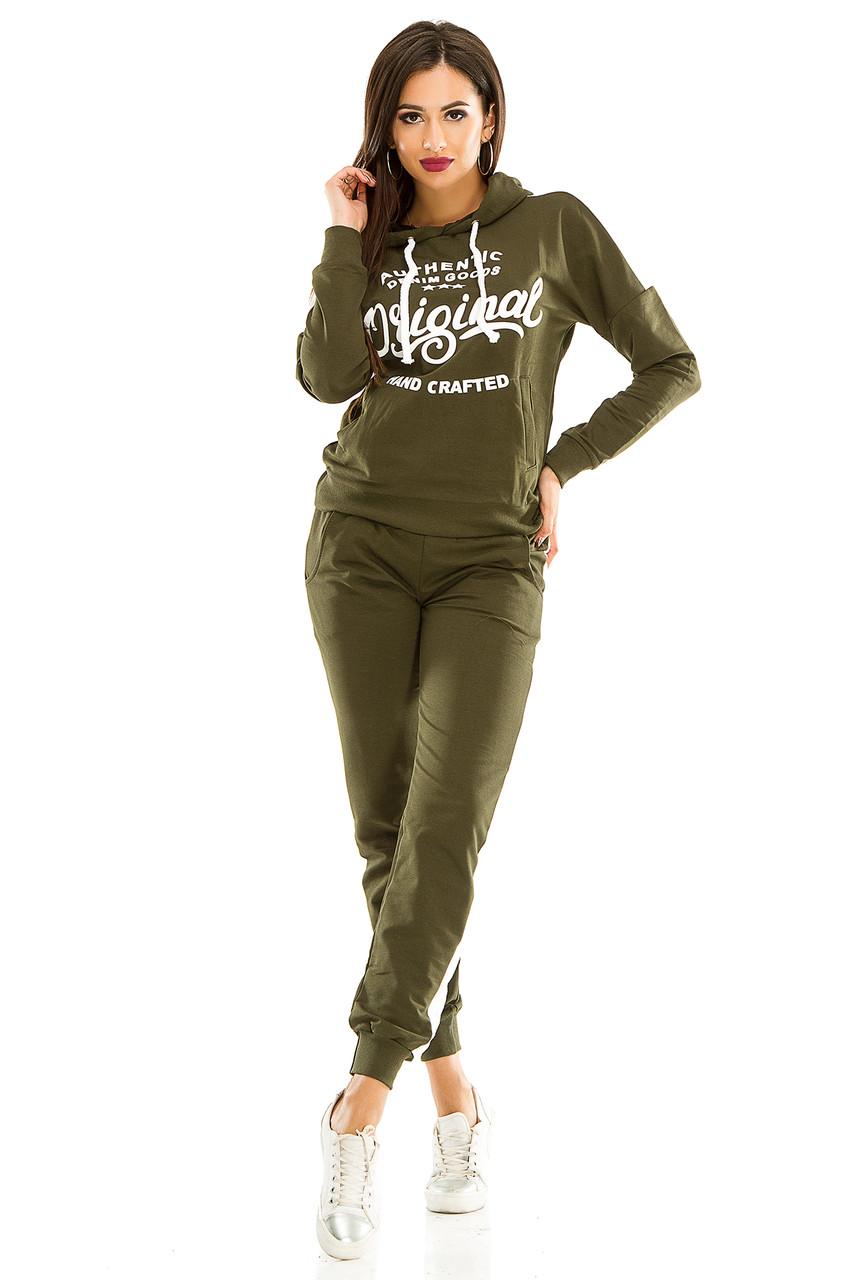 Женский спортивный костюм 429   оливковый