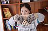Зимние вязаные перчатки ёжик