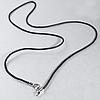 Шнурок для кулонов, серебряный карабин, 859КЛШ