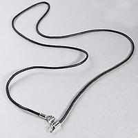 Шнурок для кулонов, серебряный карабин, 859КЛШ, фото 1