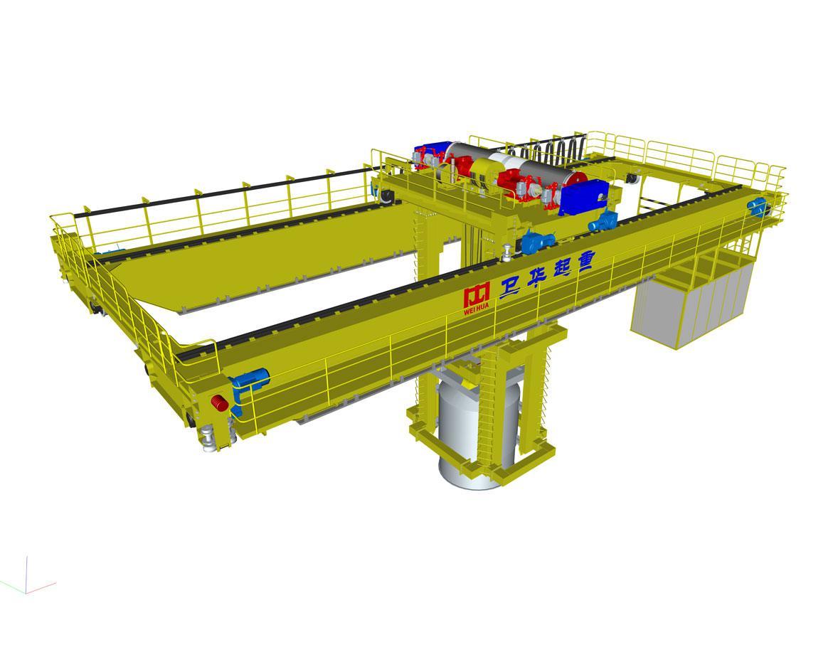 Кран двухбалочный мостовой. Кран подвесной мостовой для плавильных цехов