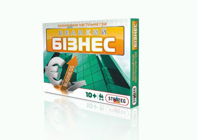 Игра настольная большая STRATEG 492 Большой Бизнес (укр / рус)