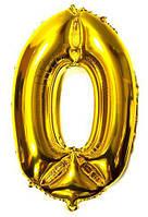 Фильгированная цифра 80см золото