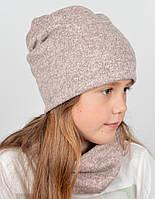 "Комплект каміння (шапка+хомут) ""Барбара"" пудра"
