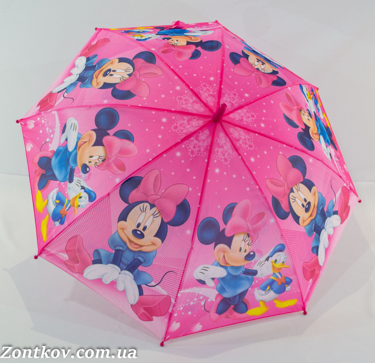 """Детский зонтик """"Минни Маус"""" с пластиковой спицей от фирмы """"Rainproof""""."""