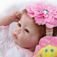 Кукла реборн Света, мягконабивная 48 см, ручная работа Reborn doll