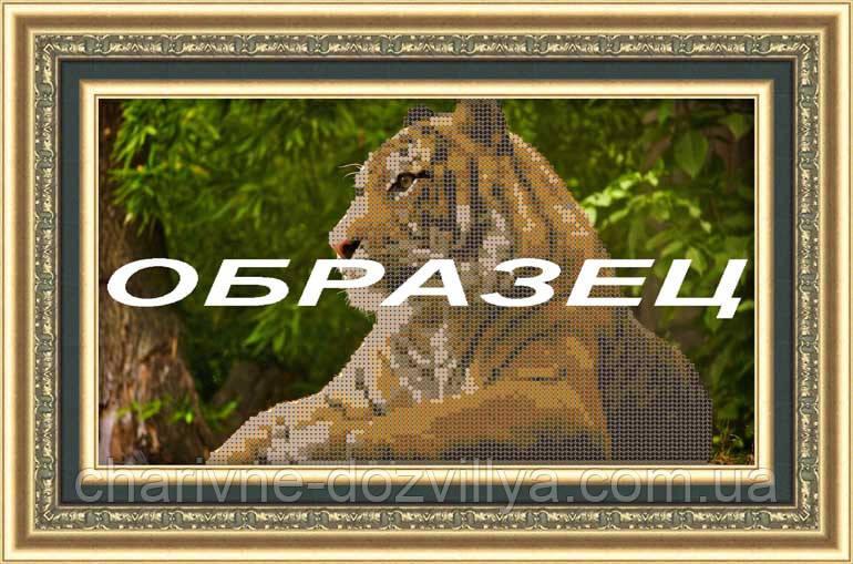 Схема для вышивки бисером Величественный тигр