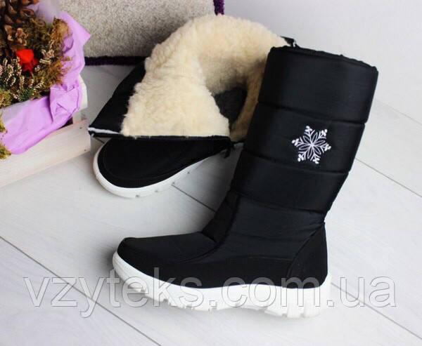 Купить Дутики женские черные вышивкой снежинка Украина оптом ... 9d45c44d21de6