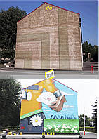 Живопись на фасаде, фото 1