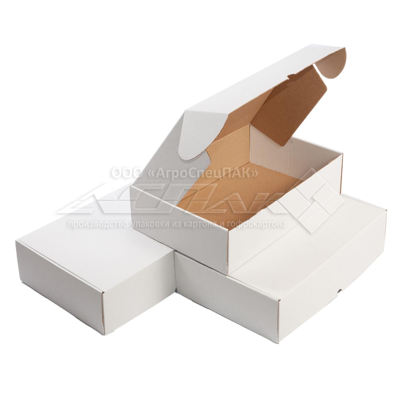 Коробки самосборные 375*250*100 белые