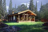 Дом деревянный из профилированного бруса 12х8 м