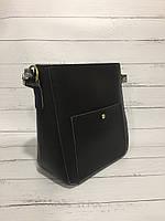1bd3273d0ab2 Женская сумка чёрная, жесткая, саквояж с дополнительным регулируемым  ремешком