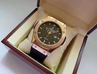 Мужские часы HUBLOT - Lether Geneva, (4 цвета ) кожа с каучуком, фото 1