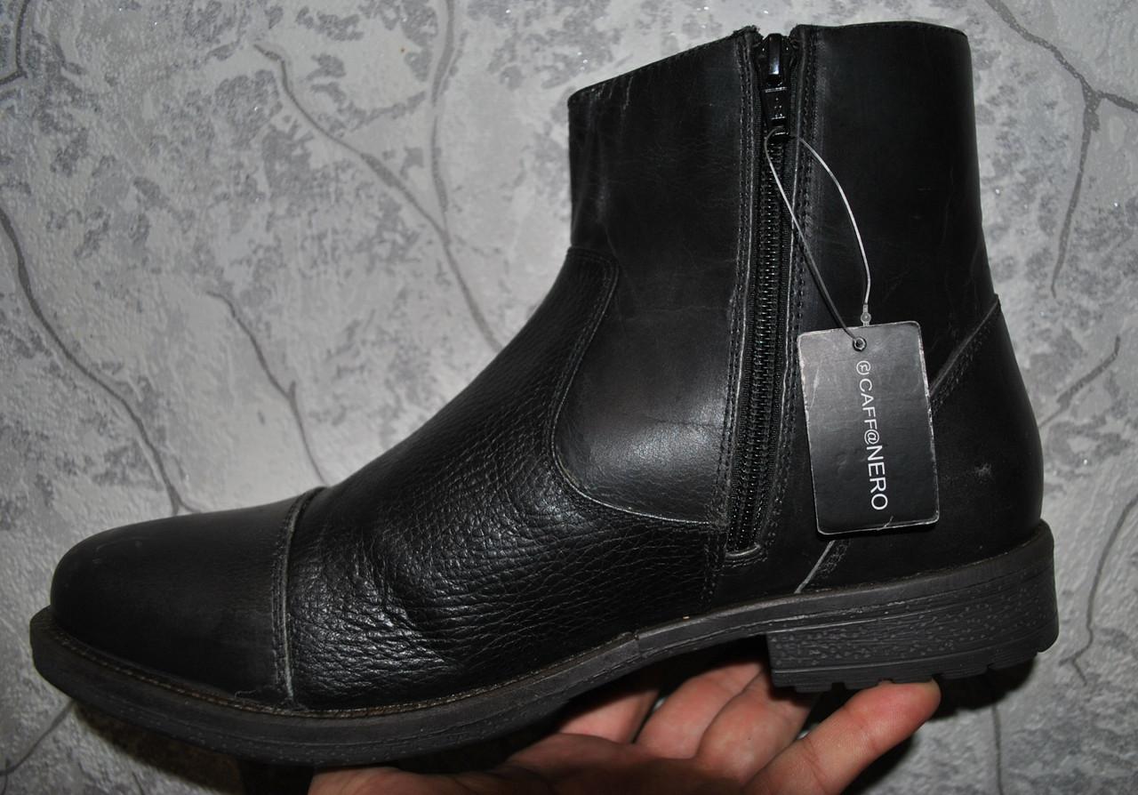 Кожаные мужские полусапожки ботинки CAFF@NERO, Италия. Размер 45.