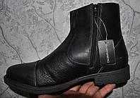 Кожаные мужские полусапожки ботинки CAFF@NERO, Италия. Размер 45., фото 1