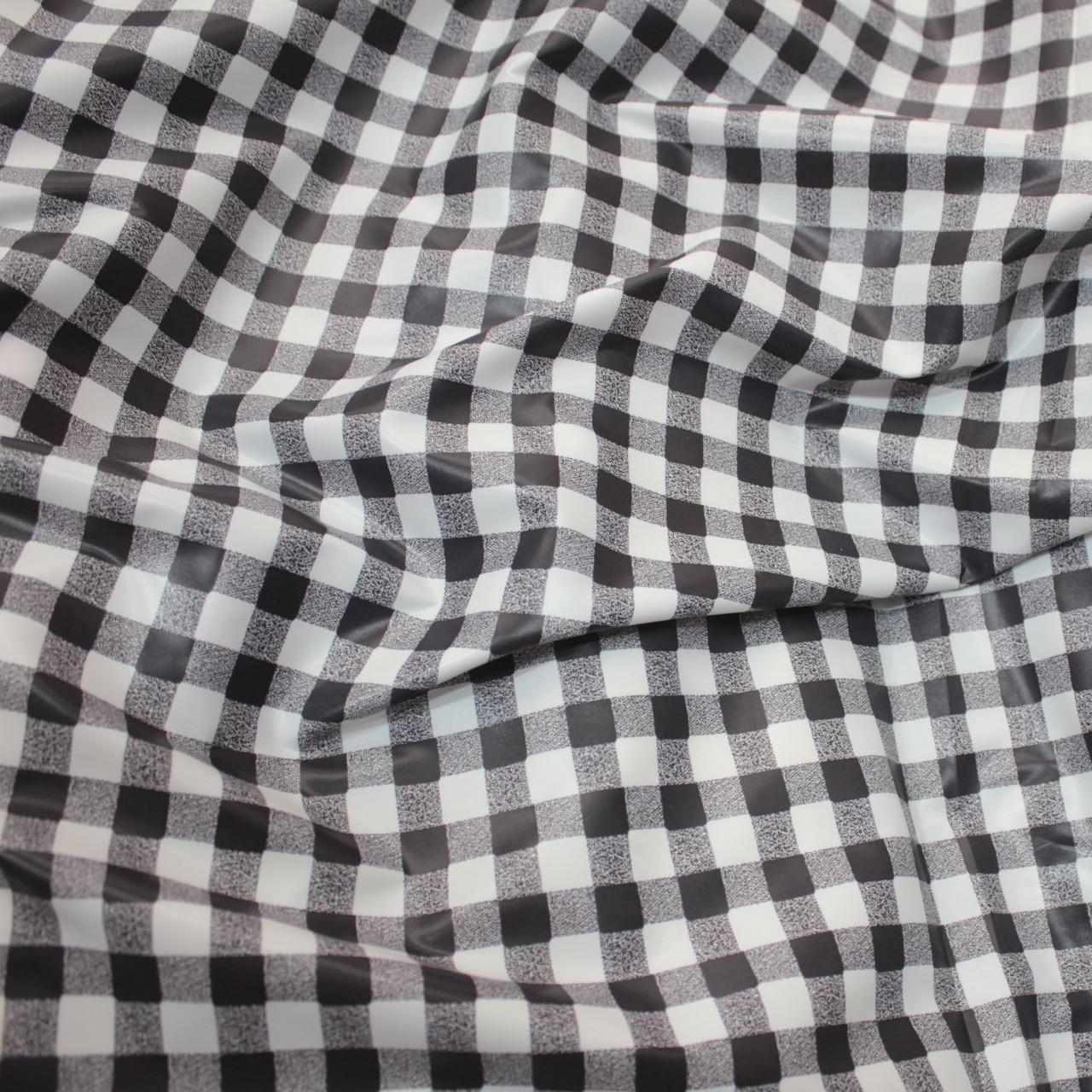 Плащова тканина лаку принт клітина чорна