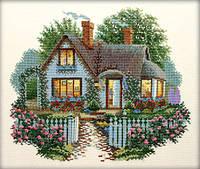 Набор для вышивки крестом RTO R199 «Домик с розами»