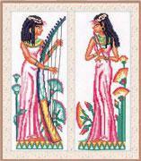 Набор для вышивки крестом RTO M087 «Египет - 2 девушки»