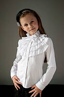 Школьная нарядная блузка мод.2093