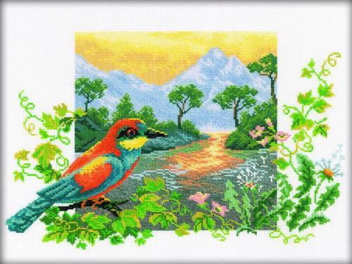 Набор для вышивки крестом RTO M223 «Река на закате»